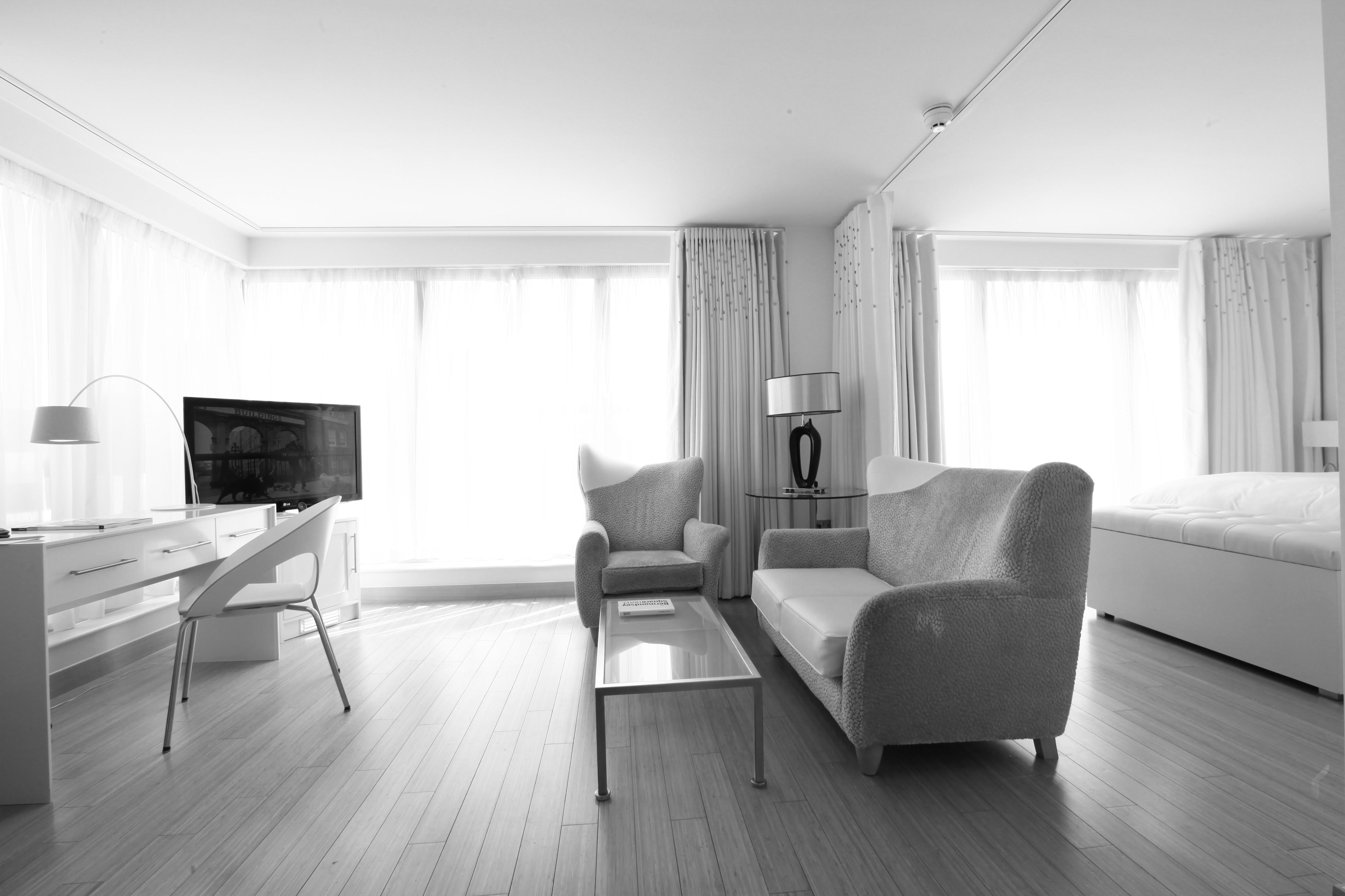 best interior designs minimal white hotel