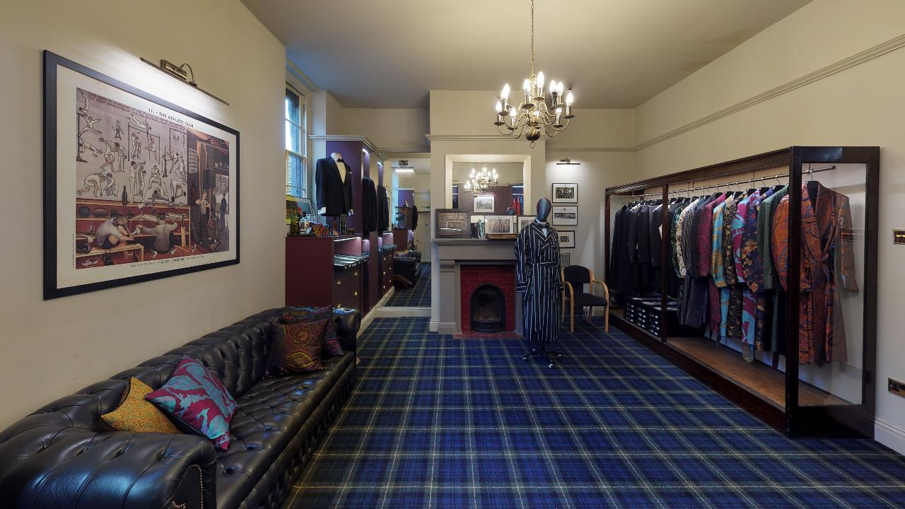 best interior designs london eton tartan carpet